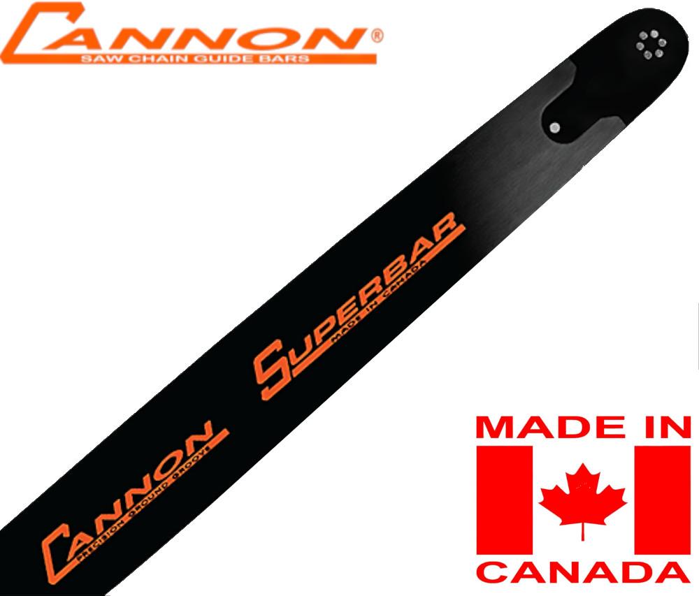 """CANNON SUPER-BAR 45cm (18"""") 3/8 1.5 mm (.058"""") 68D GUIDE BAR"""