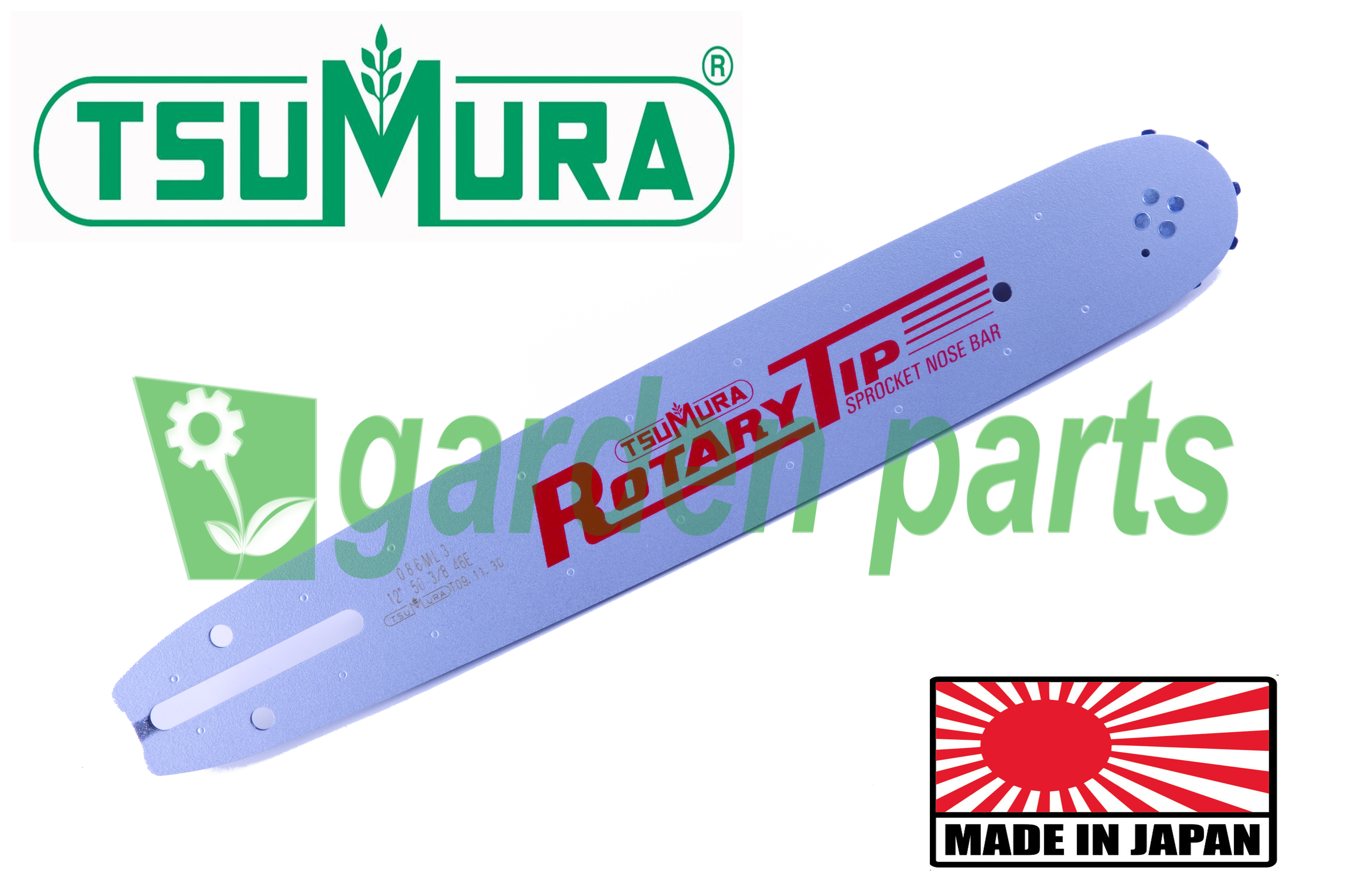 "GUIDE BAR TSUMURA 10""(25cm) 3/8LP FOR NAKAYAMA PC2000 PC3000 GUIDE BAR"