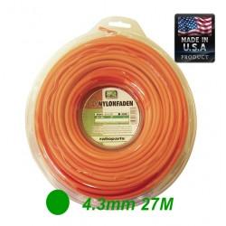 NYLONFADEN TRIMMER LINE ROUND 4.3mm 27m