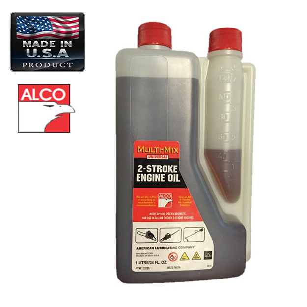ALCO OIL FOR TWO STROKE ENGINE  1lt AMERICAN LUBRICATING TWO STROKE ENGINES OIL