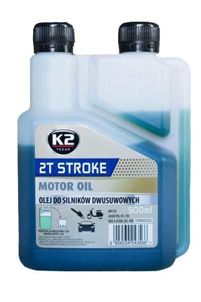 K2 , 2T STROKE MOTOR OIL 500ml GREASE & CHAIN LUBE